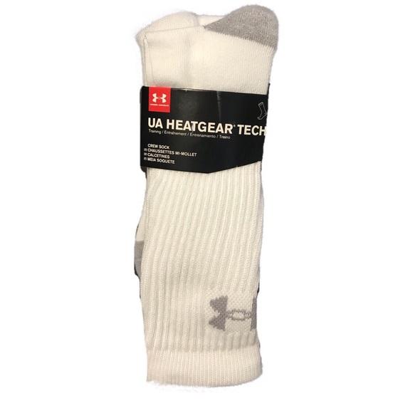 18d4693cee26 Under Armour Heatgear Tech Socks 3 Pair Mens Large